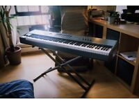 m-audio oxygen 88, hammer action midi keyboard + pedal & stand, brand new, perfect condition