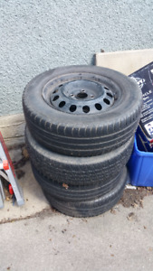 14 inch 4x100 Steelies with Nokian I3 All-Season tires
