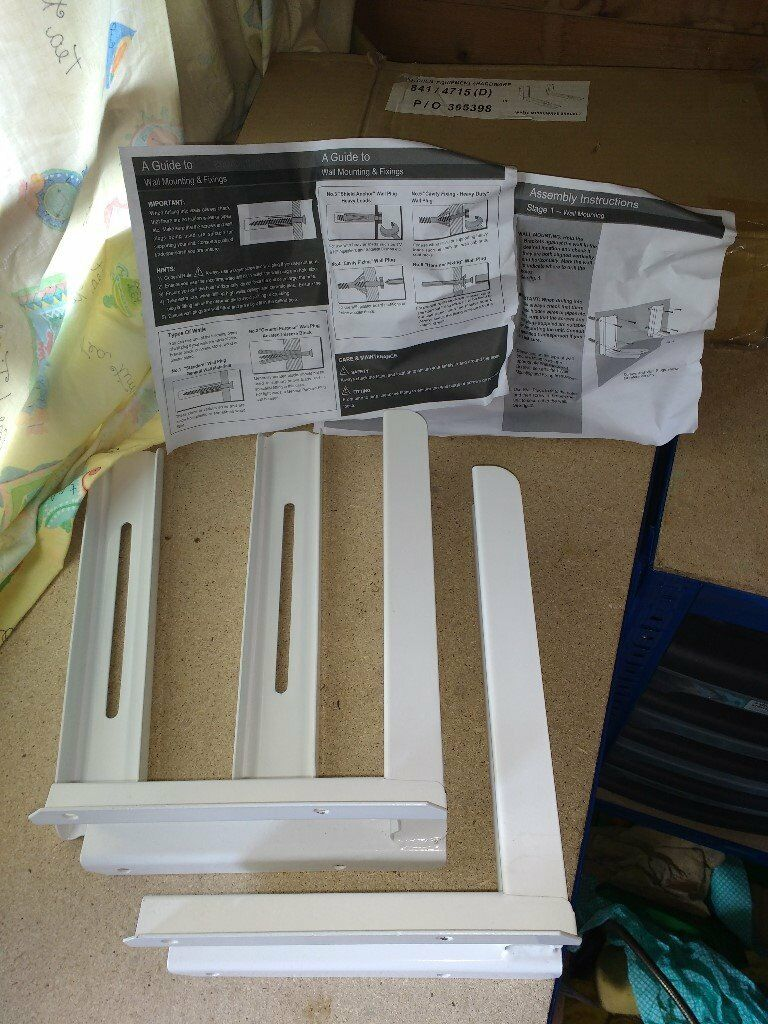 Microwave white shelf barsin Hitchin, HertfordshireGumtree - Microwave white shelf bars mounting brackets with instructions but no fittings. No sign of use. Very good condition