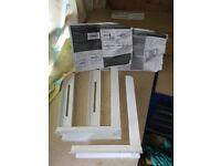 Microwave white shelf bars