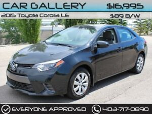 2015 Toyota Corolla LE w/Sunroof, Heated Seats $89B/W YOU'RE APP