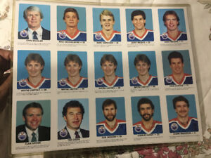 1984-85 Edmonton Oilers Red Rooster Full Set! Gretzky, Messier!