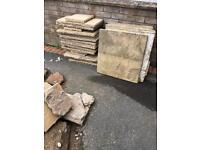 Concrete slabs & bricks & Rubble