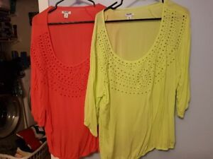 Ladies Plus Size Tops in Excellent Condition