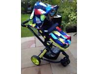 Cosatto giggle pitter patter 3 in 1 pushchair with Car seat, carrycot & push chair