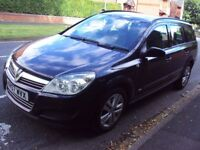 VAUXHALL ASTRA ESTATE 2008 1.3 CDTI DIESEL IN STUNNING METALLIC BLACK WITH ALLOYS, VERY ECONOMICAL