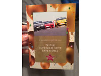 Triple Supercar Drive Experience Gift