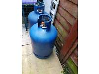 Gas cylinder 2 of them 15kg empty
