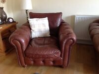 Sofa & Armchair in Chesterfield Style