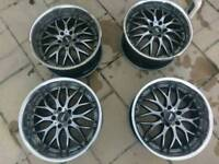 5x114 jap 19 inch alloy wheels dished
