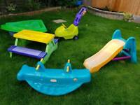 Little tikes toys - table slide see saw and more.