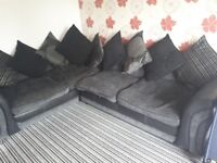 Corner sofa! Very good condition! Been treated so is stain resistant! READY THURSDAY! open to offers