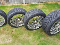 Set of 4 Calibre Exile alloy wheels with fitted tyres