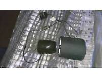 Small black bedside lamp