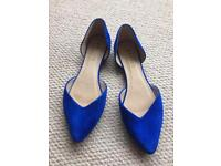 Size 7 blue shoes from Office. Like new!
