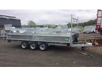 Large trailers for steel or wood