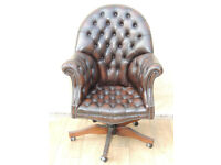 Chesterfield vintage quality directors chair genuine leather (Delivery)