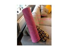 Pink patterned yoga mat