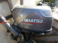 tohatsu 4hp 4stroke long shaft very good condition less than 30 hours running