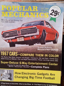 Popular Mechanics Mag. & Others 50's 60's & 70's