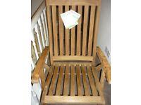Kettler FSC Wooden Steamer garden chair - NEEDS REPAIRING SEE PICS