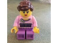 Girl Lego Figure Clock / Alarm clock