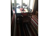 Oak Dining table and 6 Chairs and Display Cabinet Immaculate Condition