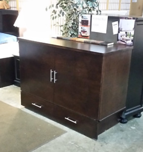 """The cabinet bed, Made in BC,  includes 6""""  double memory matt"""
