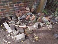 Bricks, stones and edging stones