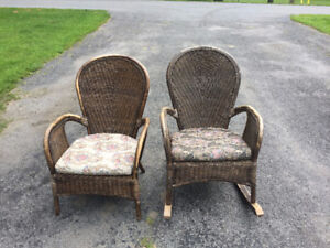 Wicker Chairs For Sale: $20 OBO