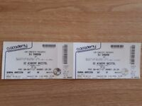 Pair of tickets for DJ Shadow at Bristol Academy 6th October