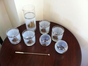 Set of 6 Drink Glasses with Pitcher