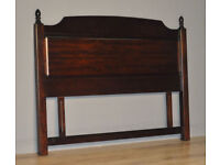 """Attractive Large Vintage High Quality Stag 54"""" Double Bed Headboard"""