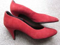 BHS Red Suede Shoes, Size 5