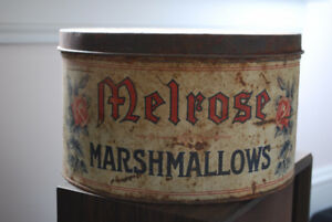 Early 1900s Melrose Marshmallow Tin