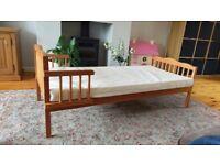 Pine Toddler Bed & Matress
