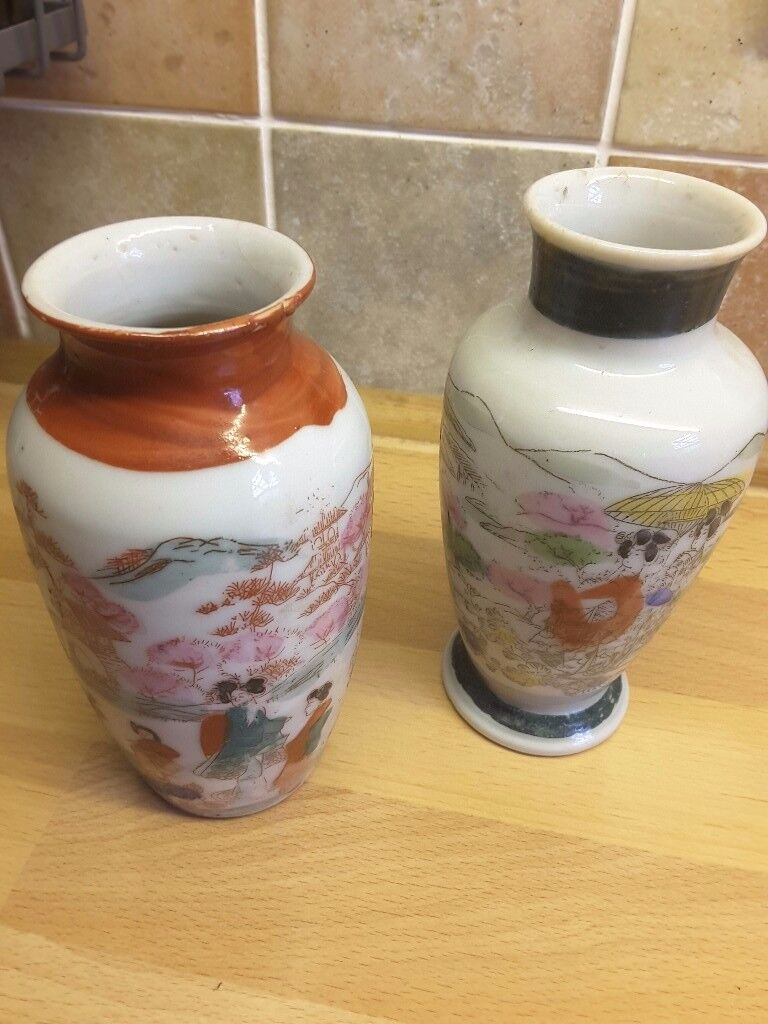 Pair of small japanese pottery vases in radstock somerset gumtree pair of small japanese pottery vases reviewsmspy