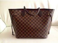 Brown Louis Vuitton neverfull mm