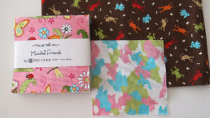 "Moda ""Meadow Friends"" Quilting Fabric/Charm Packs, FQ's etc."