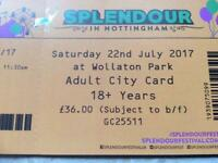 Splendour ticket