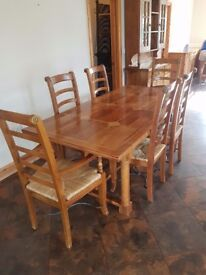 Barker flagstone dining set