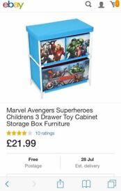Canvas marvel toy box