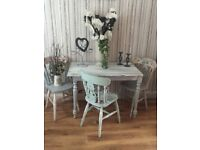 Bespoke table and three chairs
