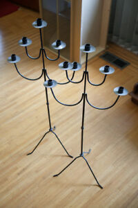 Beautiful Iron Candle Holders