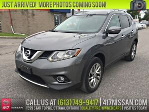 2014 Nissan Rogue SL AWD | Navigation, Leather, Pano-Sunroof