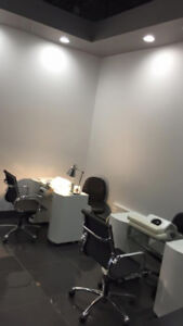 Nail spa for sublease 3 pedicure station 1 wax room 2 nail table