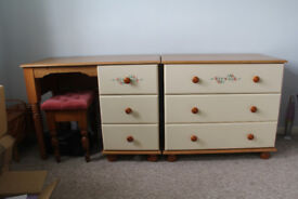 Bedroom dressing Table and Chest of Drawers