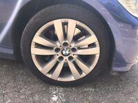 """GENUINE 17"""" BMW 161 WINTER ALLOY WHEELS + TYRES FOR E90 E91 E92 E93 3 SERIES"""