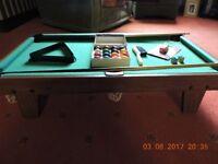 table top POOL TABLE SET