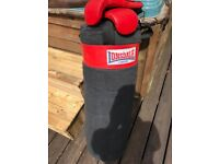 lonsdale boxing bag plus gloves
